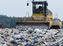 Styrofoam takes up space in landfills