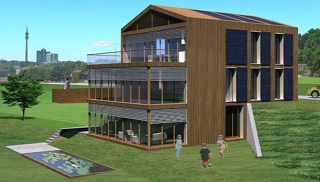 Passive housing solar heating