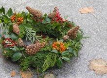 Foraged DIY holiday wreath